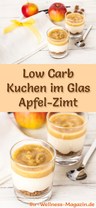 low carb apfel zimt kuchen im glas rezept ohne backen. Black Bedroom Furniture Sets. Home Design Ideas