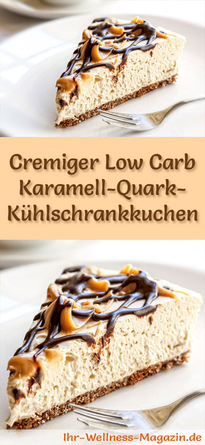 cremiger low carb karamell quark k hlschrankkuchen rezept. Black Bedroom Furniture Sets. Home Design Ideas
