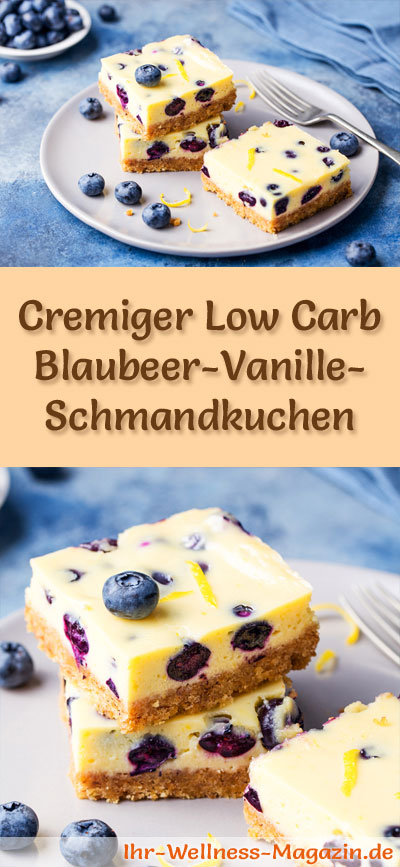 cremiger low carb blaubeer vanille schmandkuchen ohne backen rezept. Black Bedroom Furniture Sets. Home Design Ideas