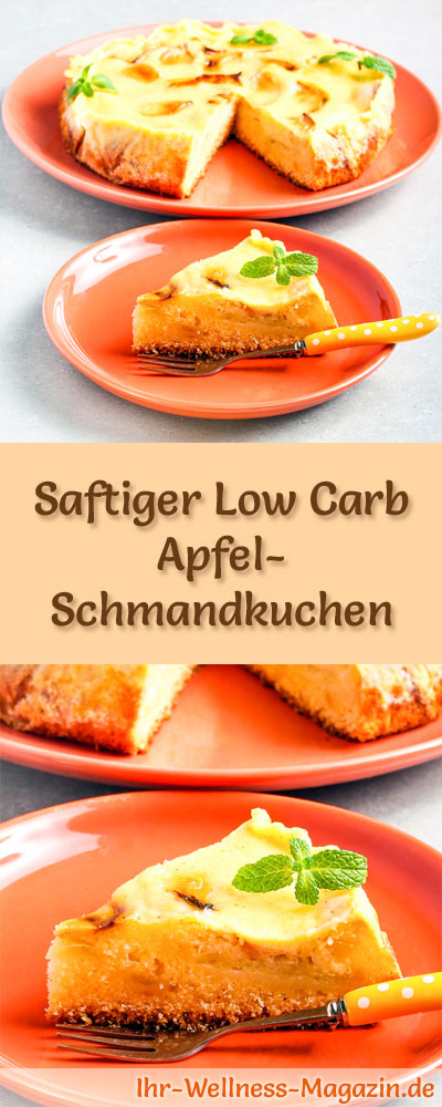 saftiger low carb apfel schmandkuchen rezept. Black Bedroom Furniture Sets. Home Design Ideas