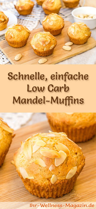 schnelle einfache low carb mandel muffins rezept. Black Bedroom Furniture Sets. Home Design Ideas