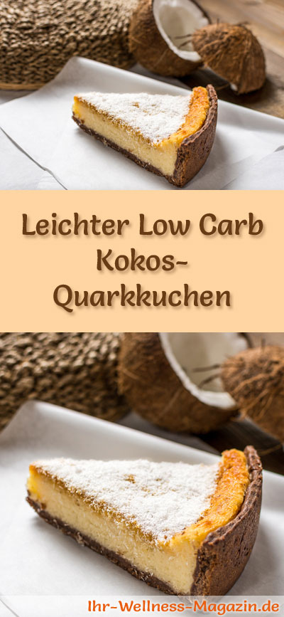 leichter low carb kokos quarkkuchen rezept ohne zucker. Black Bedroom Furniture Sets. Home Design Ideas
