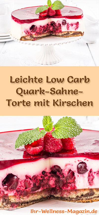 leichte low carb quark sahne torte mit kirschen rezept. Black Bedroom Furniture Sets. Home Design Ideas