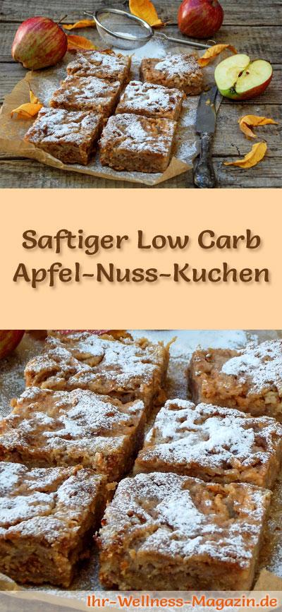 Schneller Saftiger Low Carb Apfel Nusskuchen Rezept Ohne Zucker