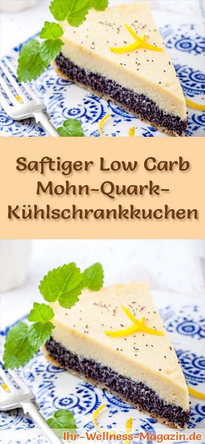 saftiger low carb mohn quark k hlschrankkuchen rezept. Black Bedroom Furniture Sets. Home Design Ideas