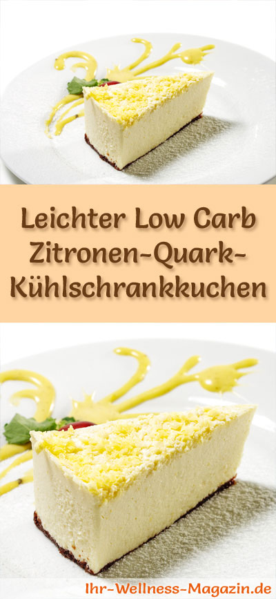 leichter low carb zitronen quark k hlschrankkuchen rezept. Black Bedroom Furniture Sets. Home Design Ideas