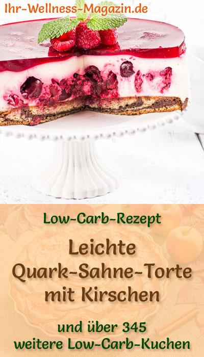Leichte Low Carb Quark Sahne Torte Mit Kirschen Rezept Ohne Zucker