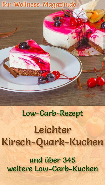 Leichter Low Carb Kirsch Quark Kuchen Rezept Ohne Zucker