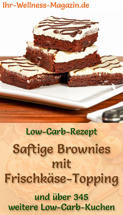 saftige low carb brownies mit frischk se topping rezept. Black Bedroom Furniture Sets. Home Design Ideas