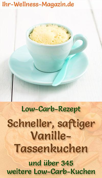 Schneller Saftiger Low Carb Vanille Tassenkuchen Rezept Ohne Zucker