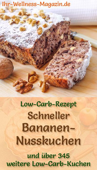 Schneller Einfacher Low Carb Bananen Nusskuchen Rezept Ohne Zucker