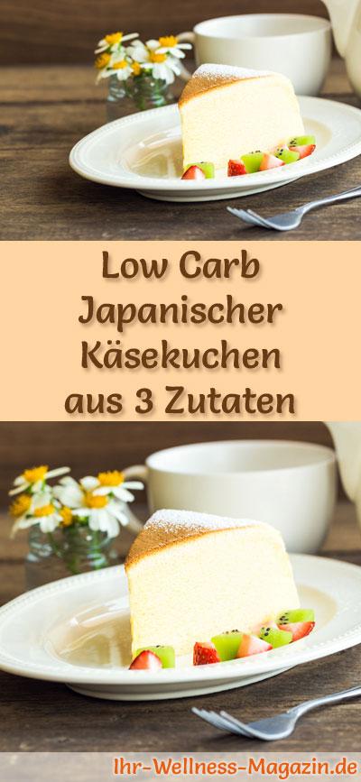 Low Carb Japanischer Kasekuchen Aus Nur 3 Zutaten Rezept Ohne Zucker