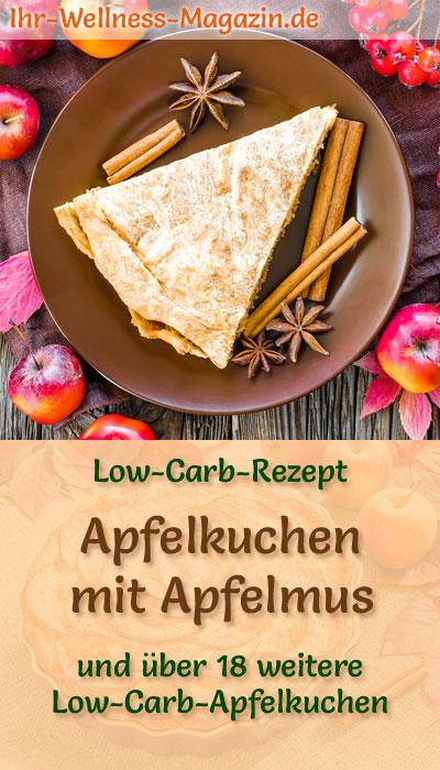 Gedeckter Low Carb Apfelkuchen Mit Apfelmus Rezept Ohne Zucker