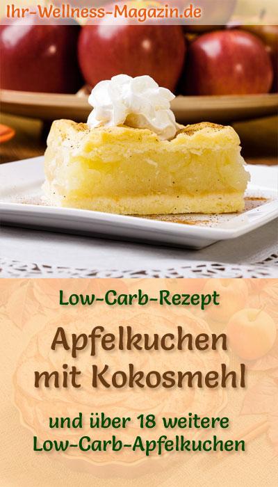 Low Carb Apfelkuchen Mit Kokosmehl Rezept Ohne Zucker