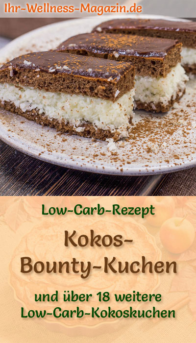 Low Carb Kokos Bounty Kuchen Einfaches Rezept Ohne Zucker