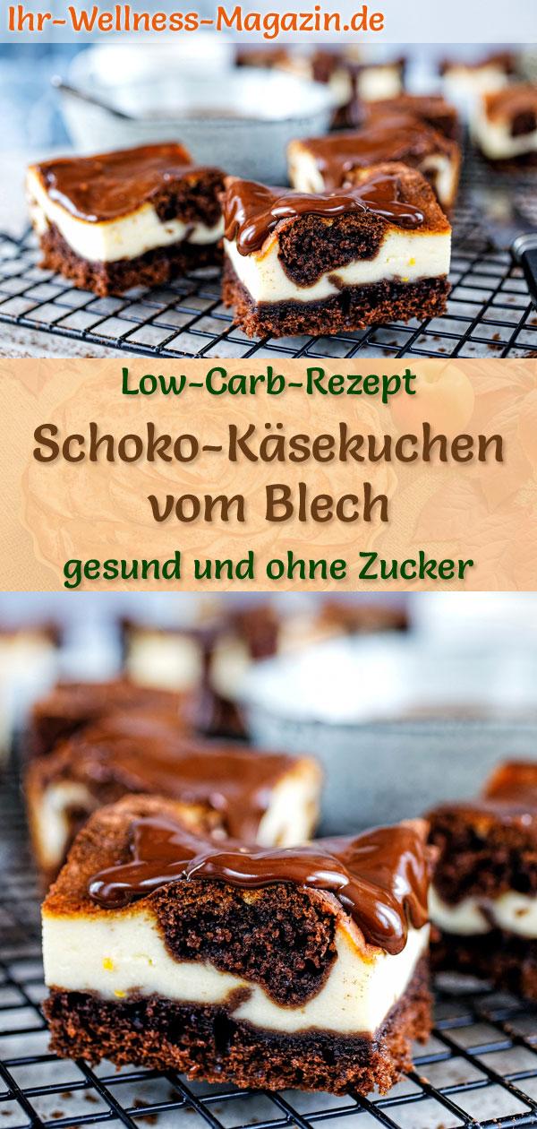 Low Carb Schoko Kasekuchen Vom Blech Rezept Ohne Zucker