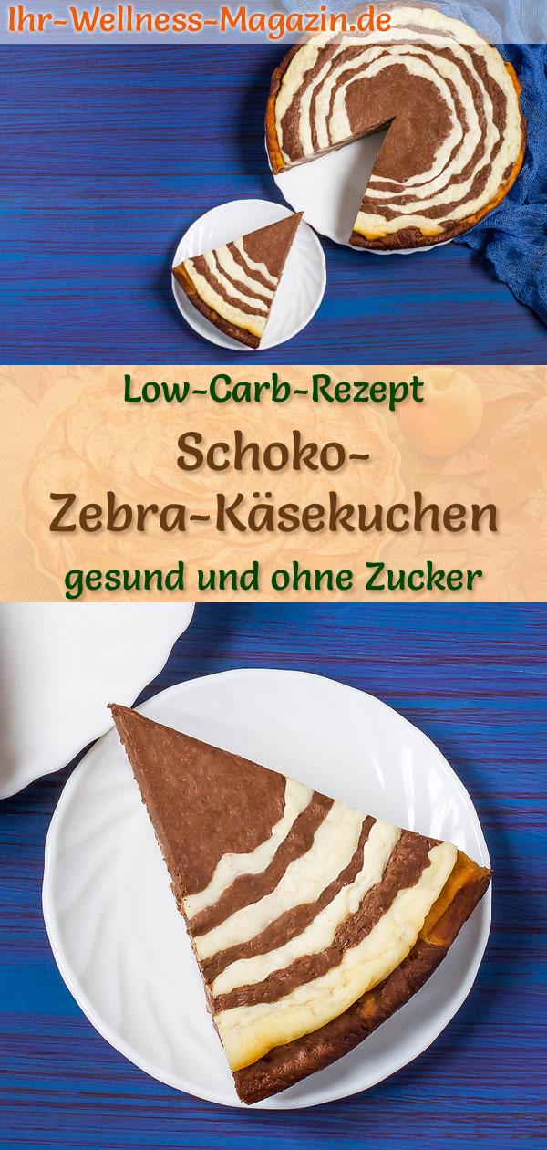 Low Carb Zebra Schoko Kasekuchen Ohne Boden Rezept Ohne Zucker
