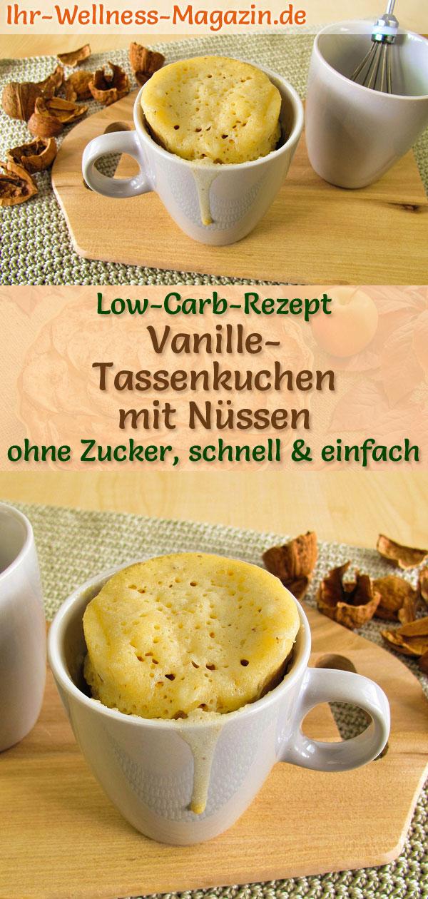 Low Carb Vanille Tassenkuchen Mit Nussen Mug Cake Rezept Ohne Zucker