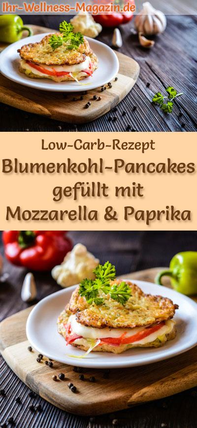 low carb blumenkohl pancakes gef llt mit mozzarella und paprika herzhaftes pfannkuchen rezept. Black Bedroom Furniture Sets. Home Design Ideas