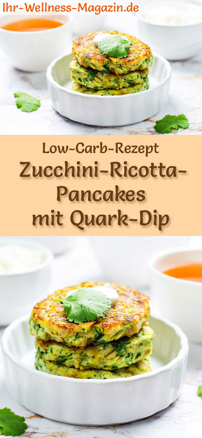 low carb zucchini ricotta pancakes mit quark dip herzhaftes pfannkuchen rezept. Black Bedroom Furniture Sets. Home Design Ideas