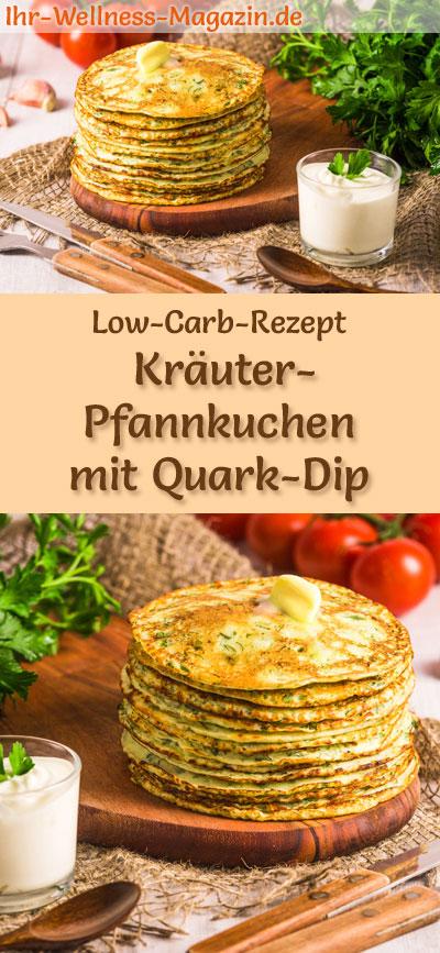 low carb kr uter pfannkuchen mit quark dip herzhaftes pancake rezept. Black Bedroom Furniture Sets. Home Design Ideas