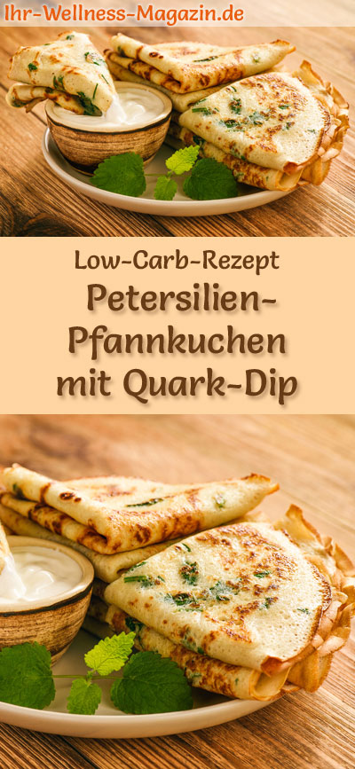 low carb petersilien pfannkuchen mit quark dip herzhaftes pfannkuchen rezept. Black Bedroom Furniture Sets. Home Design Ideas