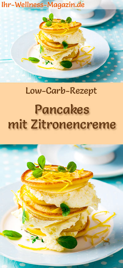 low carb pancakes mit zitronencreme s es pfannkuchen rezept. Black Bedroom Furniture Sets. Home Design Ideas