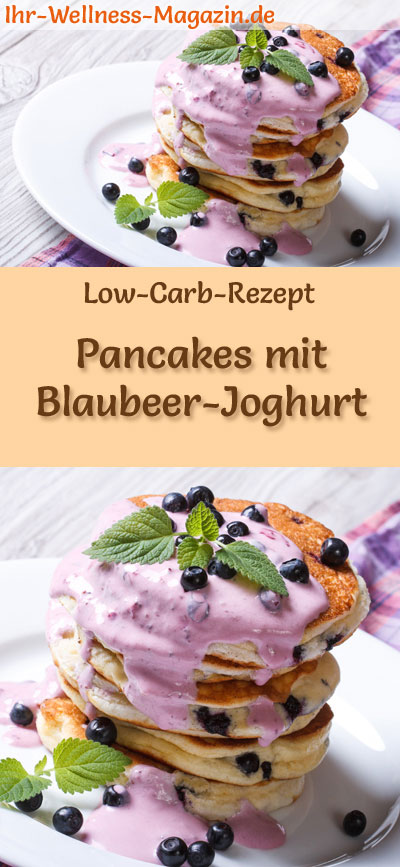 low carb pancakes mit blaubeer joghurt s es pfannkuchen rezept. Black Bedroom Furniture Sets. Home Design Ideas