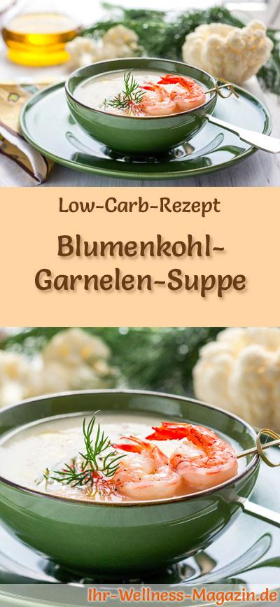 low carb blumenkohl garnelen suppe rezept. Black Bedroom Furniture Sets. Home Design Ideas