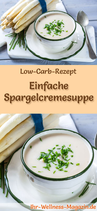einfache low carb spargelcremesuppe rezept. Black Bedroom Furniture Sets. Home Design Ideas