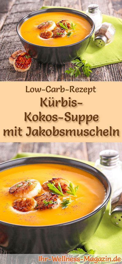low carb k rbis kokos suppe mit jakobsmuscheln rezept. Black Bedroom Furniture Sets. Home Design Ideas
