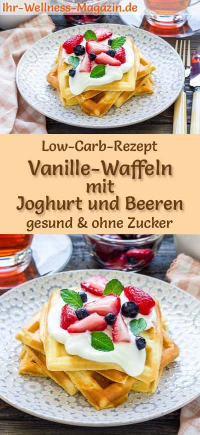 low carb vanille waffeln mit joghurt und beeren s es waffel rezept. Black Bedroom Furniture Sets. Home Design Ideas