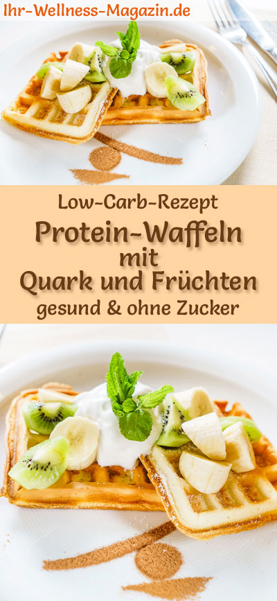 low carb protein waffeln mit quark und fr chten s es waffel rezept. Black Bedroom Furniture Sets. Home Design Ideas