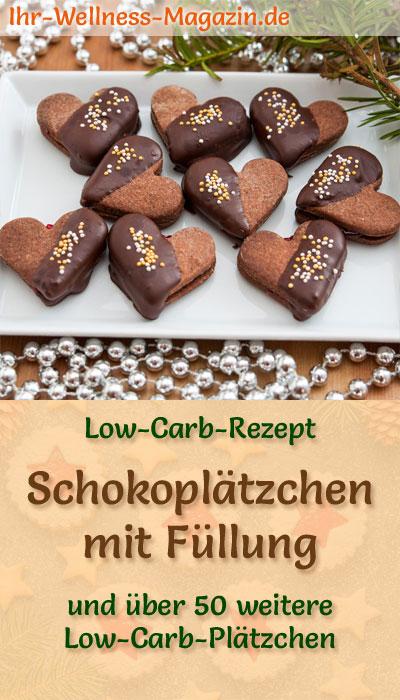 Weihnachtskekse Mit Marmeladenfüllung.Low Carb Schokoplätzchen Mit Marmeladen Füllung Einfaches Rezept