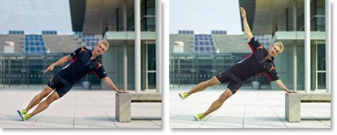 1. Krafttraining für Läufer - Seitstütz von Matthias Marquardt
