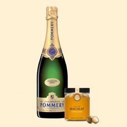 Pommery Grand Cru Royal mit Macolat Salted Caramel
