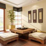 weiter zu - Wohnzimmer mit Öko-Möbeln einrichten