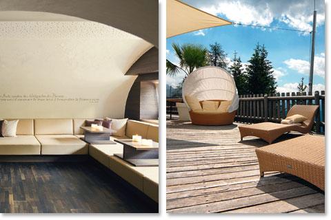 Reisen Südtirol: Relaxen und sonnen auf 1700 Metern unter Palmen Hotel Ganischgerhof Mountain Resort & Spa