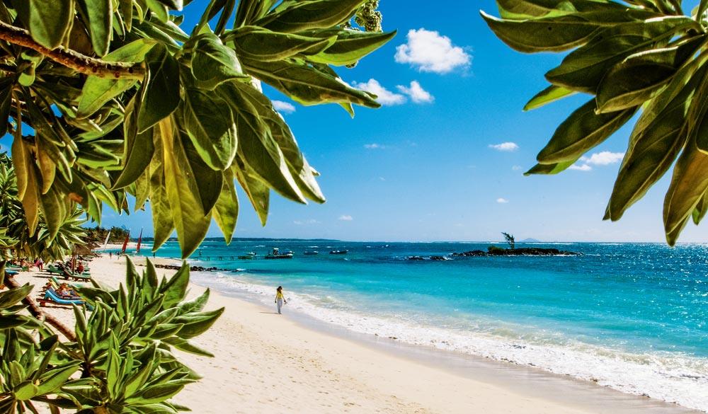 Strand urlaub auf der insel mauritius belle mare auf der insel