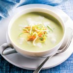 weiter zu - Kartoffel-Lauch-Suppe mit Soja
